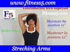 estiramiento triceps